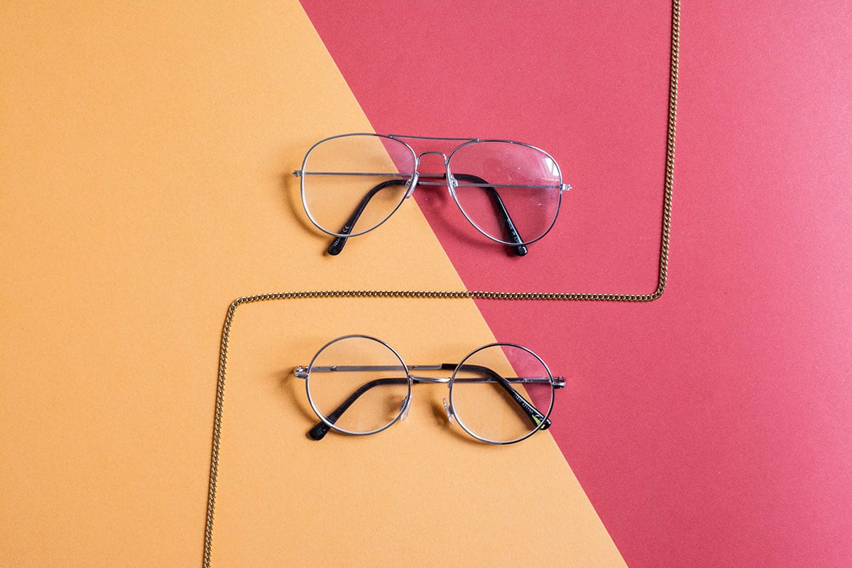 Glasses with prism lenses